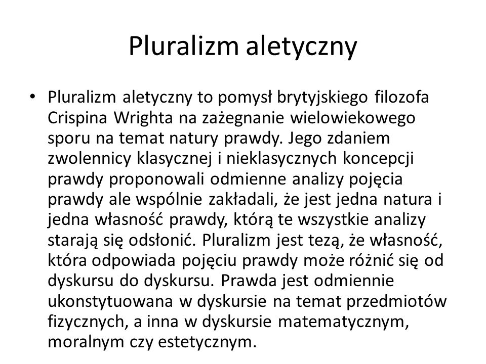 Pluralizm aletyczny