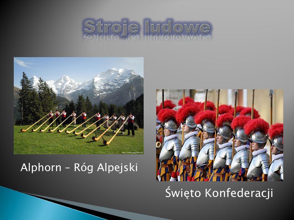 Stroje ludowe Alphorn – Róg Alpejski Święto Konfederacji