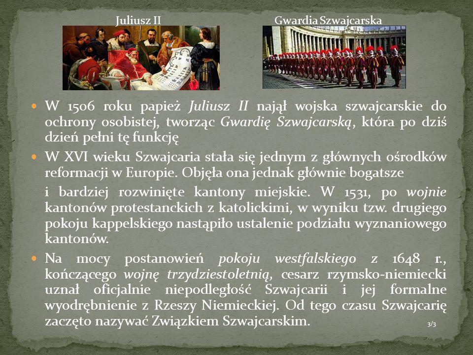 Juliusz II Gwardia Szwajcarska.