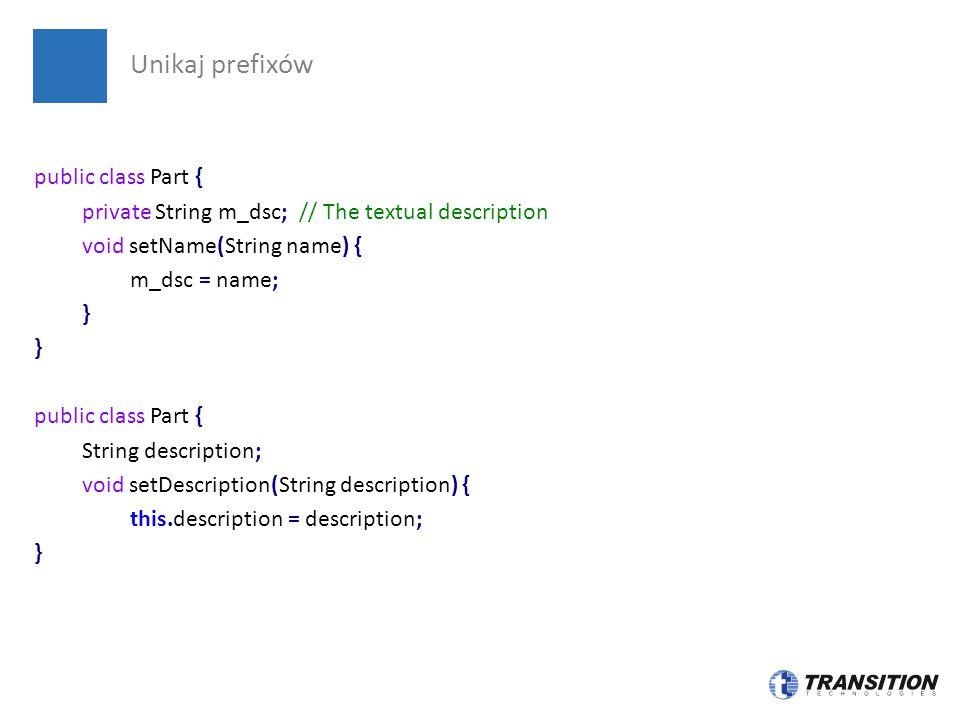 Unikaj prefixów