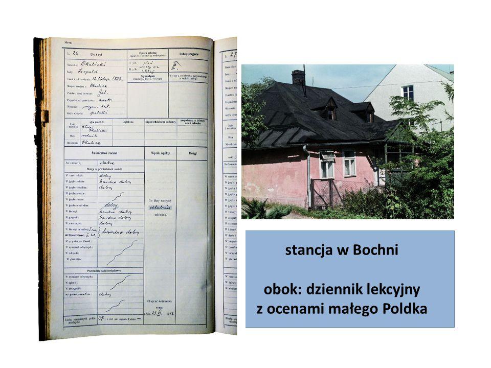 stancja w Bochni obok: dziennik lekcyjny z ocenami małego Poldka
