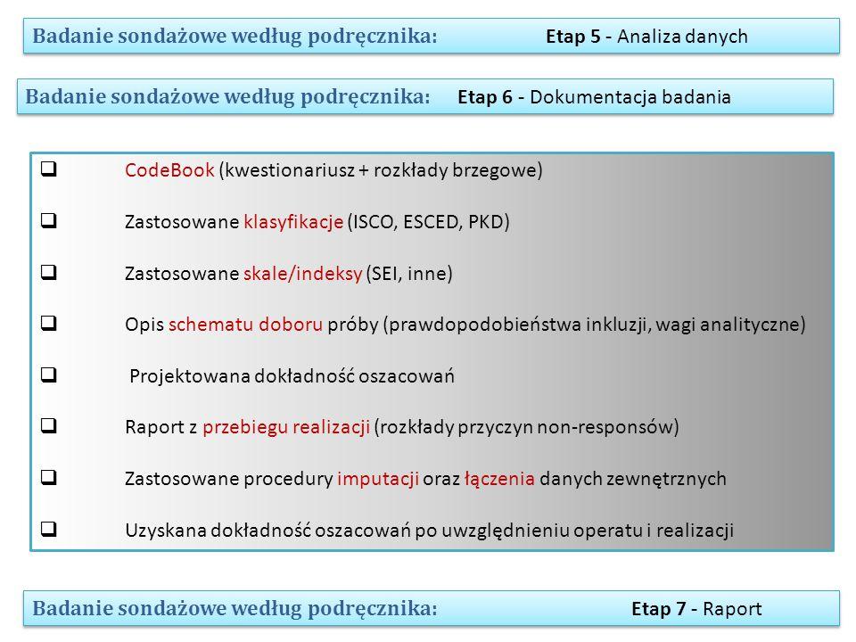 Badanie sondażowe według podręcznika: Etap 5 - Analiza danych