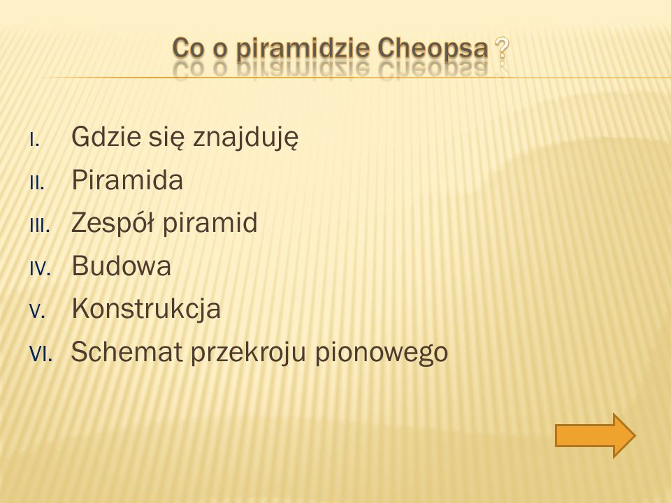 Co o piramidzie Cheopsa