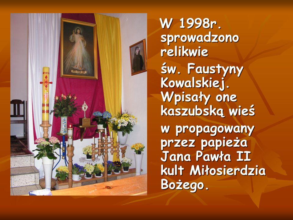 W 1998r. sprowadzono relikwie