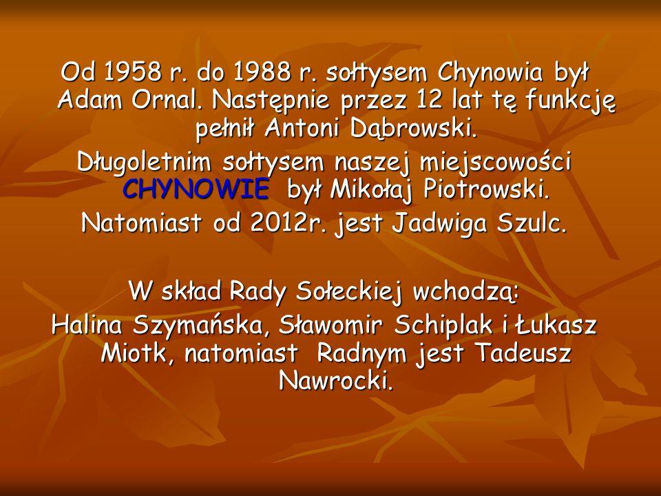 Natomiast od 2012r. jest Jadwiga Szulc.