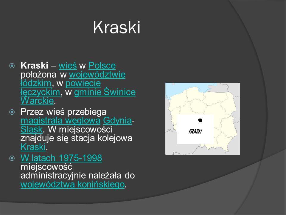 Kraski Kraski – wieś w Polsce położona w województwie łódzkim, w powiecie łęczyckim, w gminie Świnice Warckie.