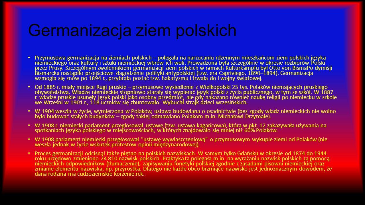 Germanizacja ziem polskich