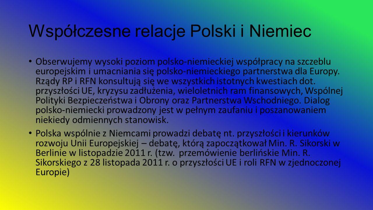 Współczesne relacje Polski i Niemiec