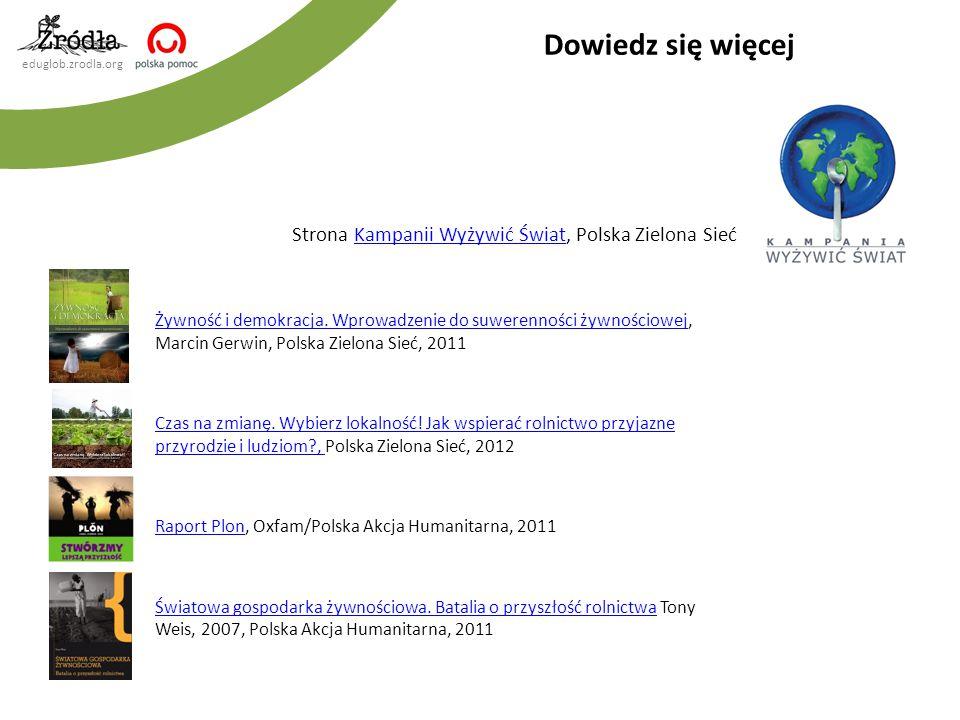 Dowiedz się więcej Strona Kampanii Wyżywić Świat, Polska Zielona Sieć
