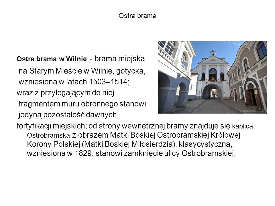 na Starym Mieście w Wilnie, gotycka, wzniesiona w latach 1503–1514;