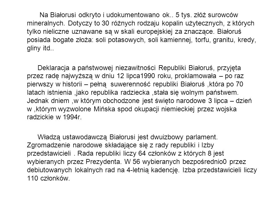 Na Białorusi odkryto i udokumentowano ok. 5 tys