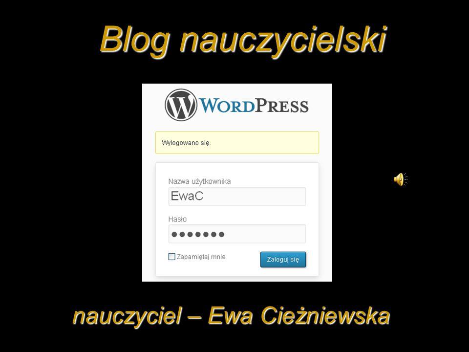 nauczyciel – Ewa Cieżniewska