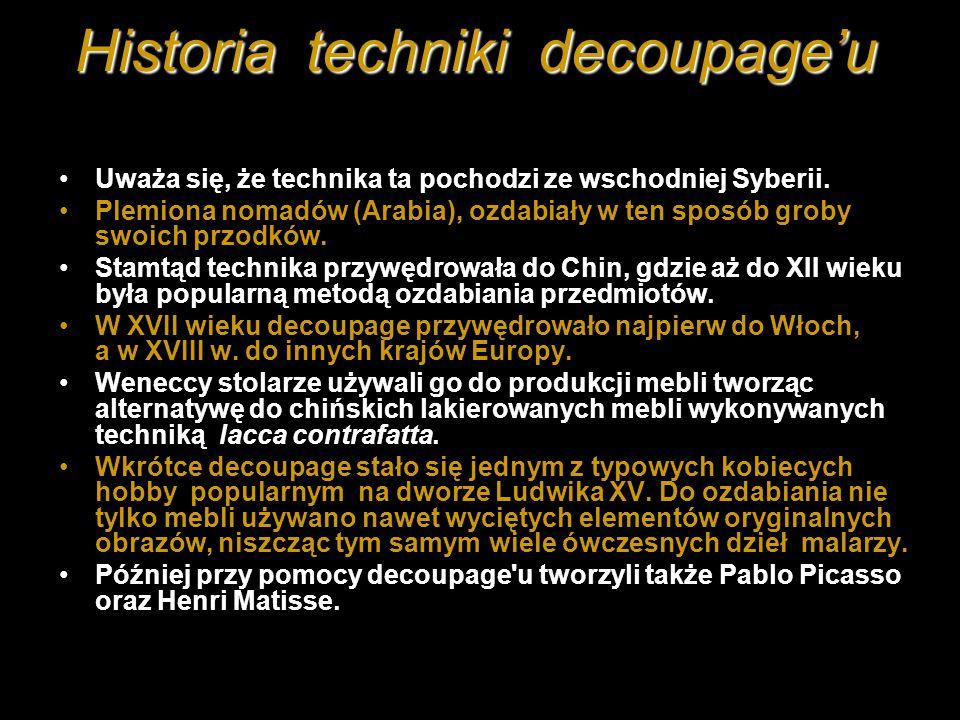 Historia techniki decoupage'u