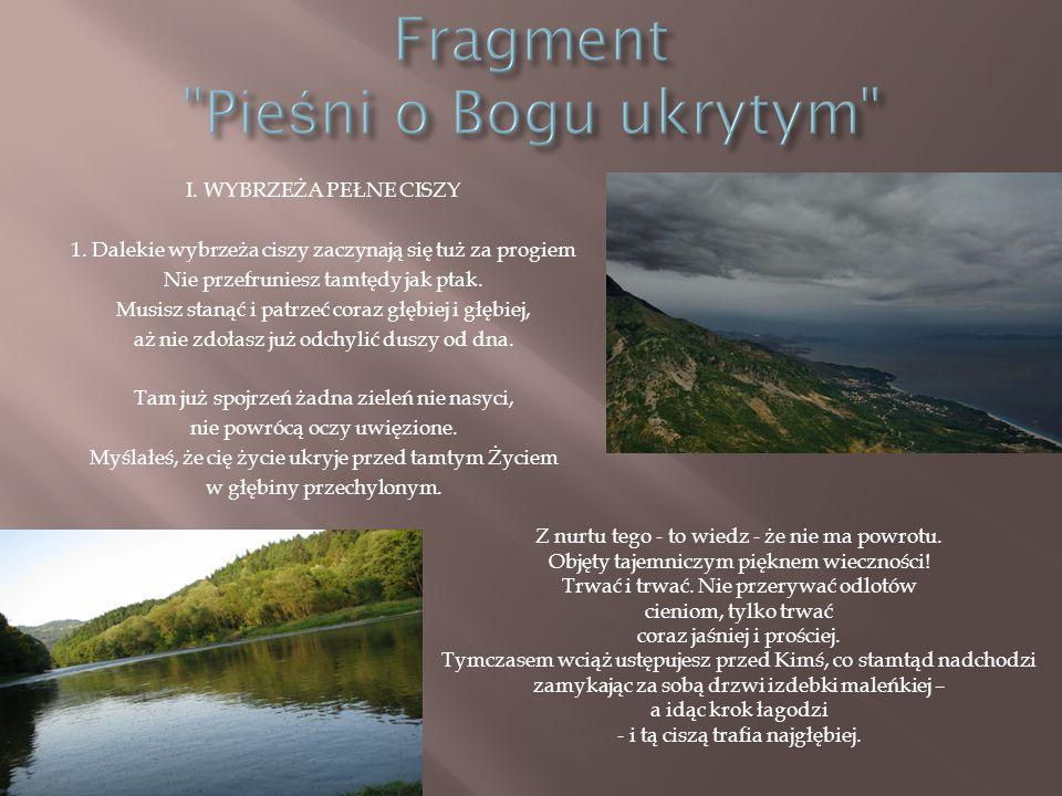 Fragment Pieśni o Bogu ukrytym