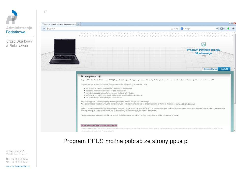 Program PPUS można pobrać ze strony ppus.pl