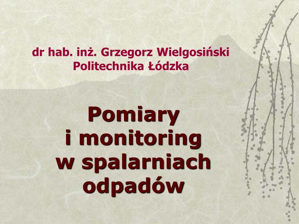 dr hab. inż. Grzegorz Wielgosiński Politechnika Łódzka