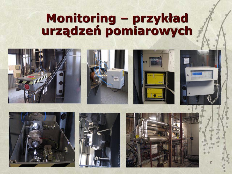 Monitoring – przykład urządzeń pomiarowych