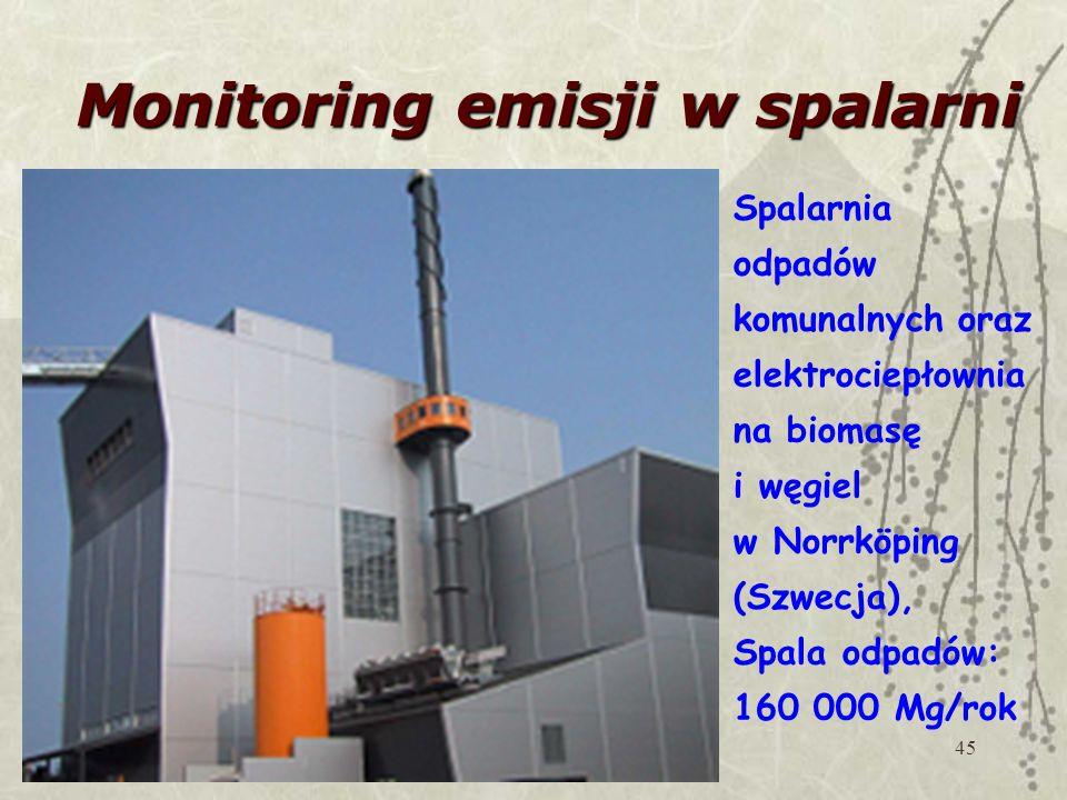 Monitoring emisji w spalarni