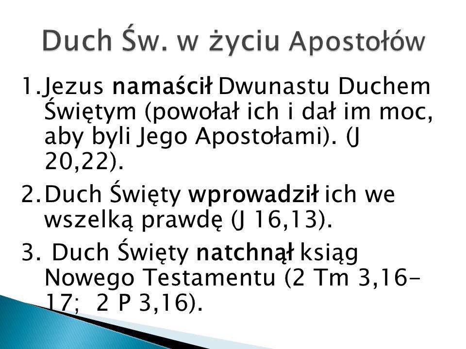 Duch Św. w życiu Apostołów