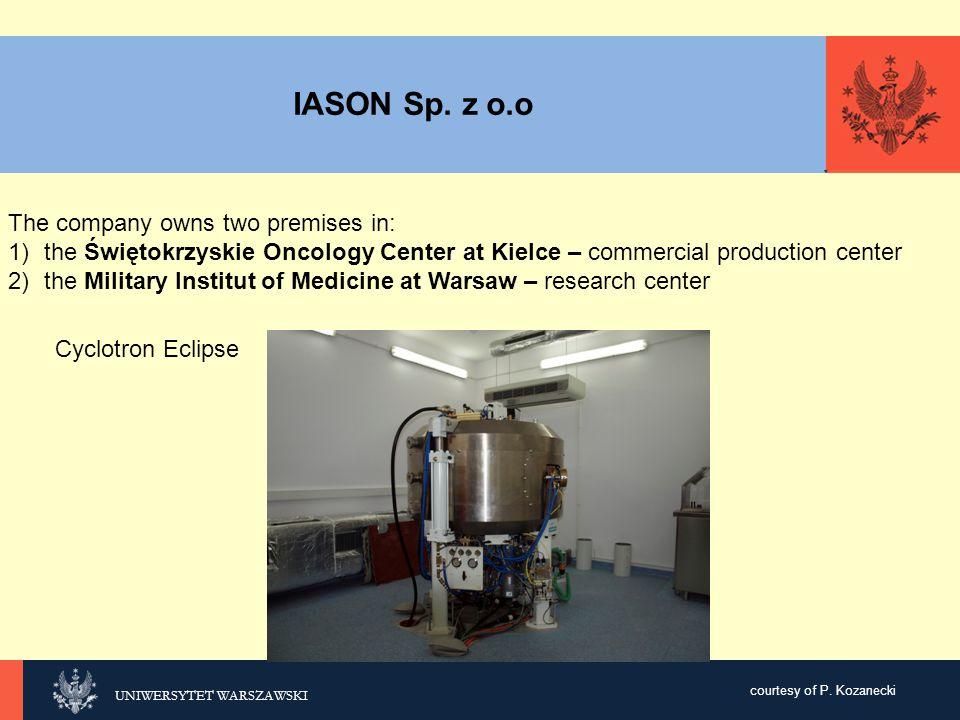 IASON Sp. z o.o The company owns two premises in: