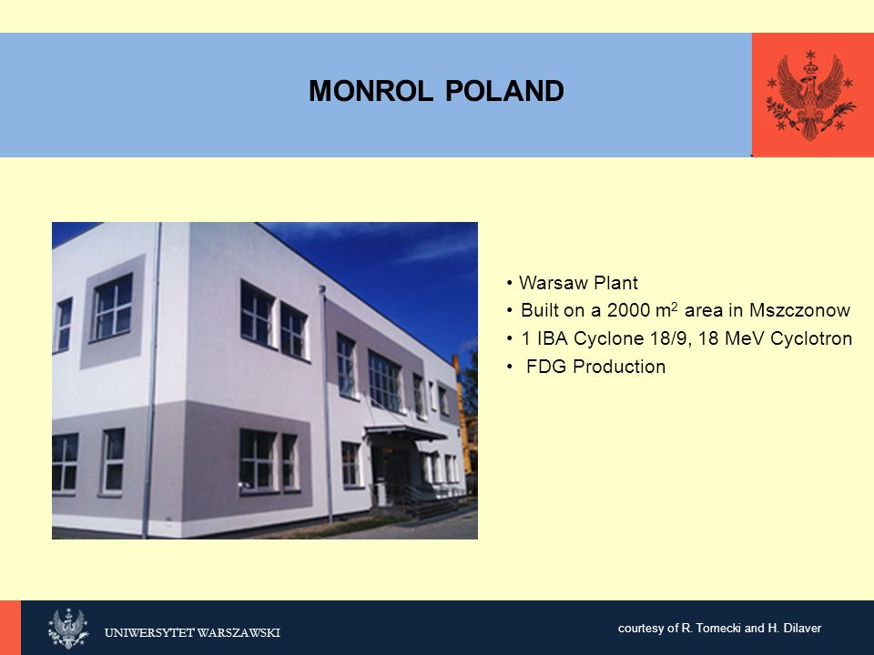 MONROL POLAND Warsaw Plant Built on a 2000 m2 area in Mszczonow