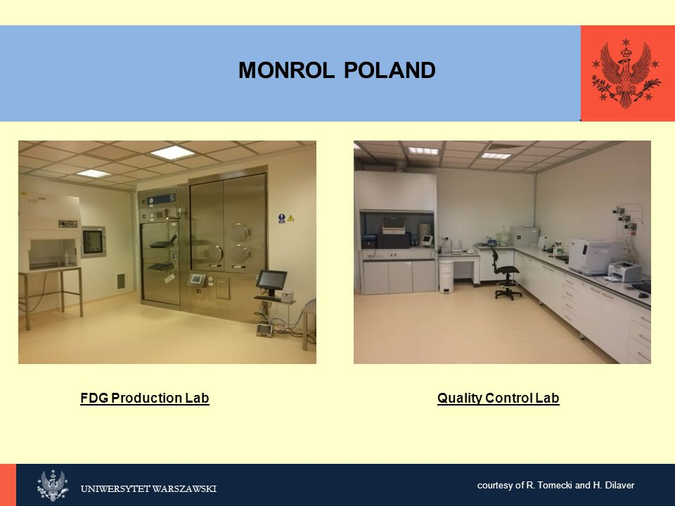 MONROL POLAND FDG Production Lab Quality Control Lab