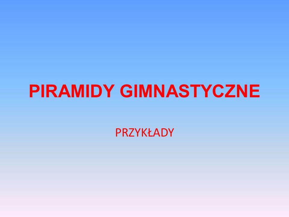 PIRAMIDY GIMNASTYCZNE