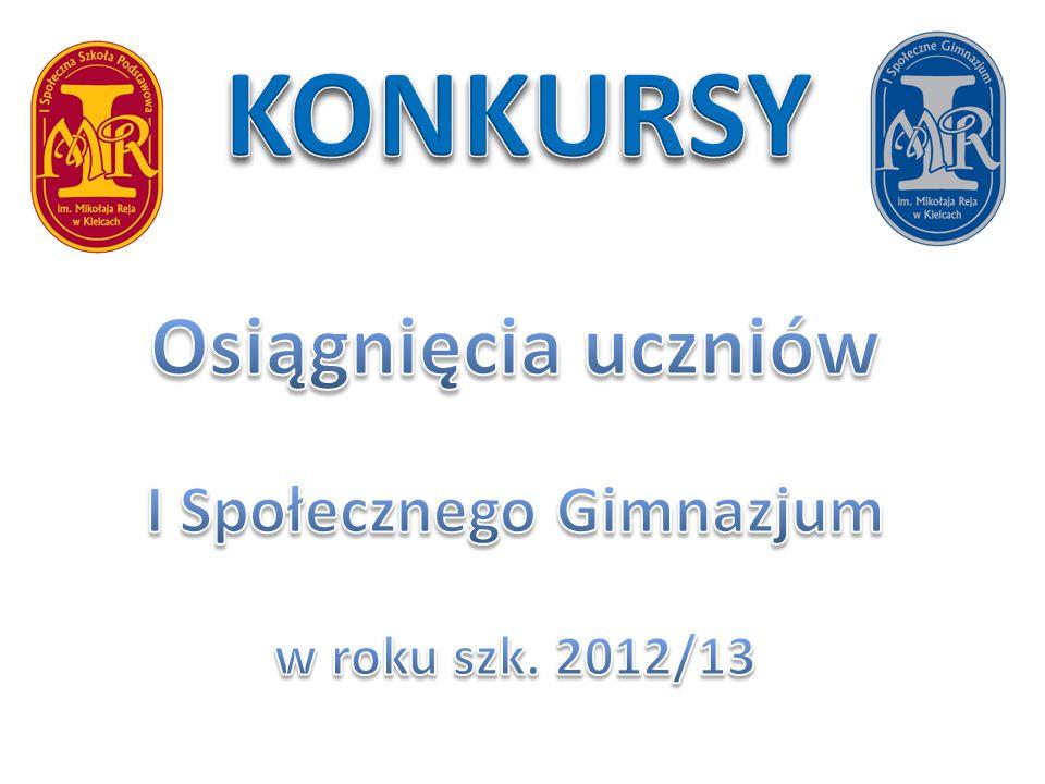 Osiągnięcia uczniów I Społecznego Gimnazjum w roku szk. 2012/13