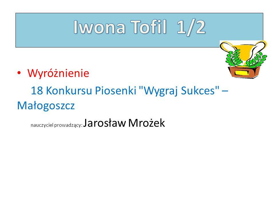 Iwona Tofil 1/2 Wyróżnienie
