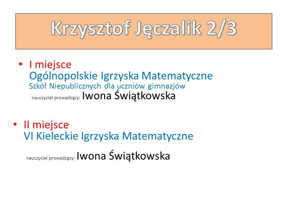 Krzysztof Jęczalik 2/3