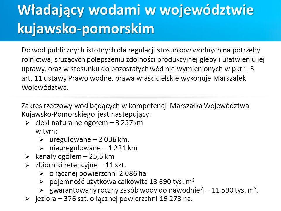 Władający wodami w województwie kujawsko-pomorskim