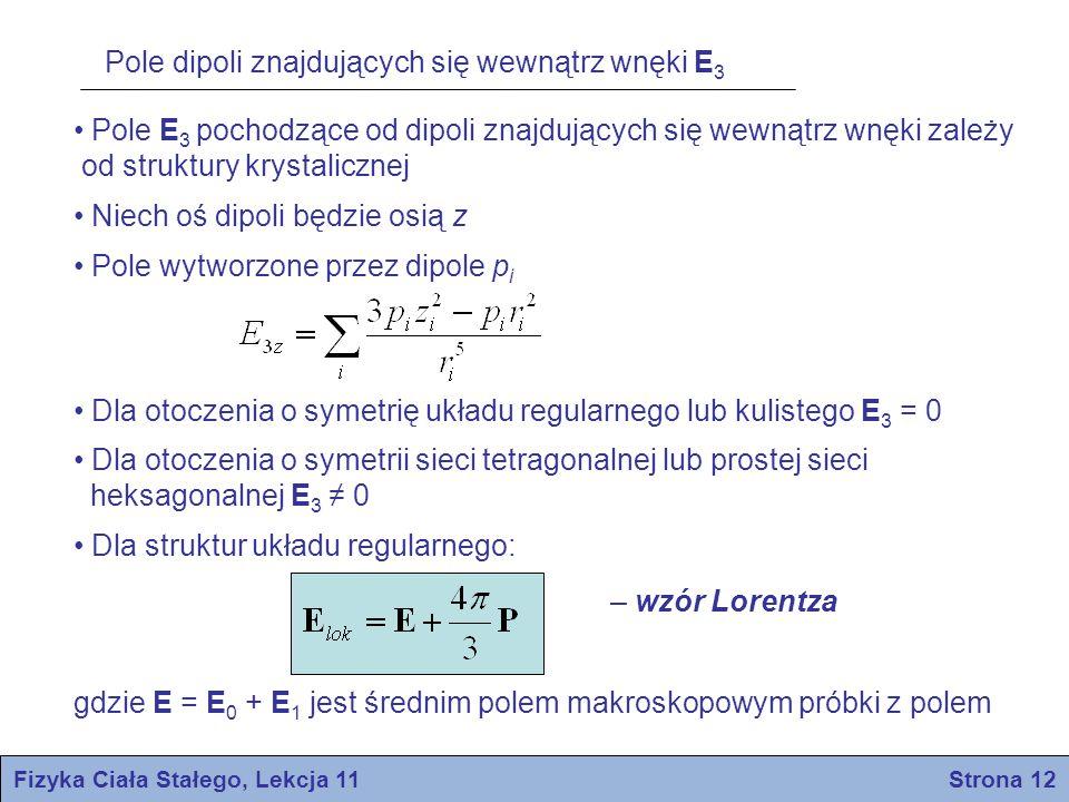 Fizyka Ciała Stałego, Lekcja 11 Strona 12