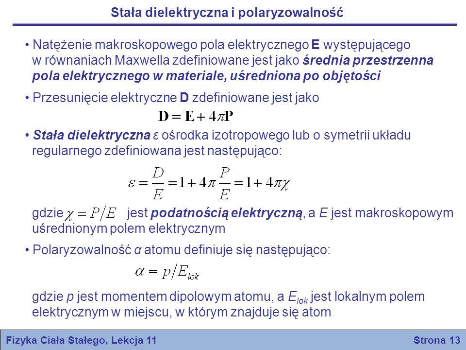 Fizyka Ciała Stałego, Lekcja 11 Strona 13