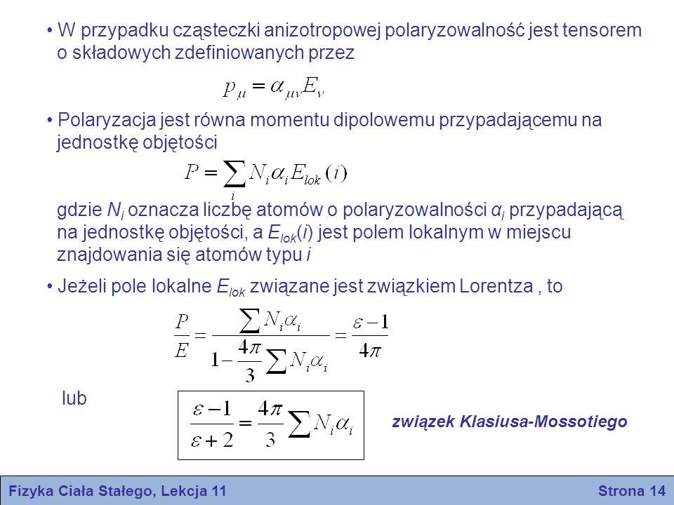 Fizyka Ciała Stałego, Lekcja 11 Strona 14
