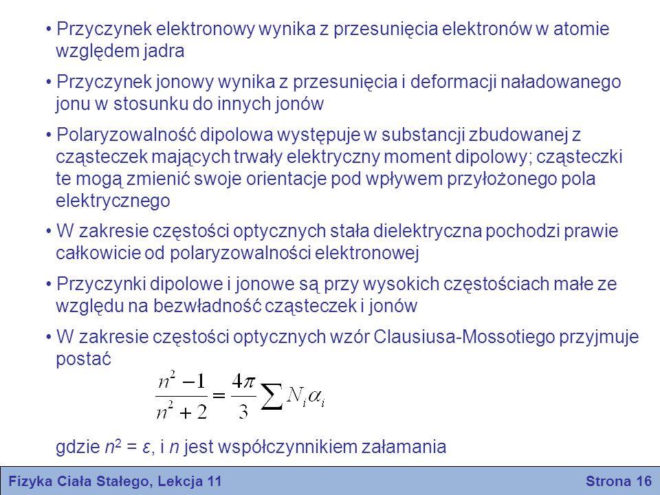 Fizyka Ciała Stałego, Lekcja 11 Strona 16