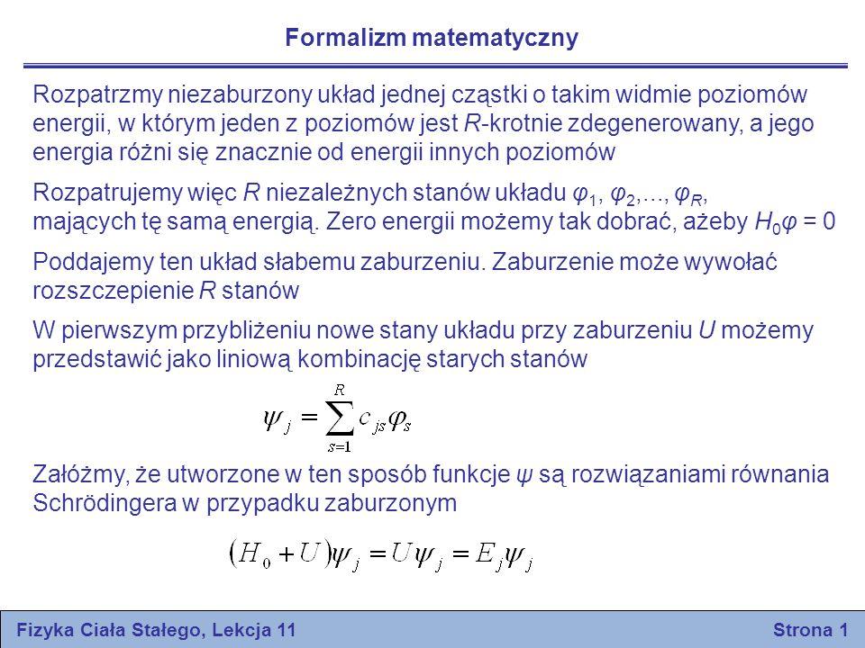 Fizyka Ciała Stałego, Lekcja 11 Strona 1