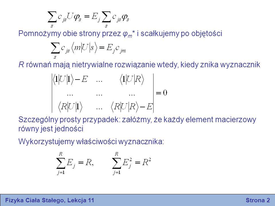 Fizyka Ciała Stałego, Lekcja 11 Strona 2