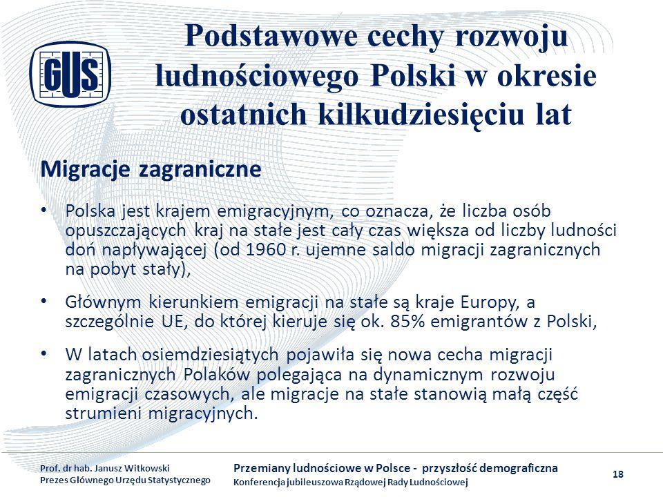 Podstawowe cechy rozwoju ludnościowego Polski w okresie ostatnich kilkudziesięciu lat