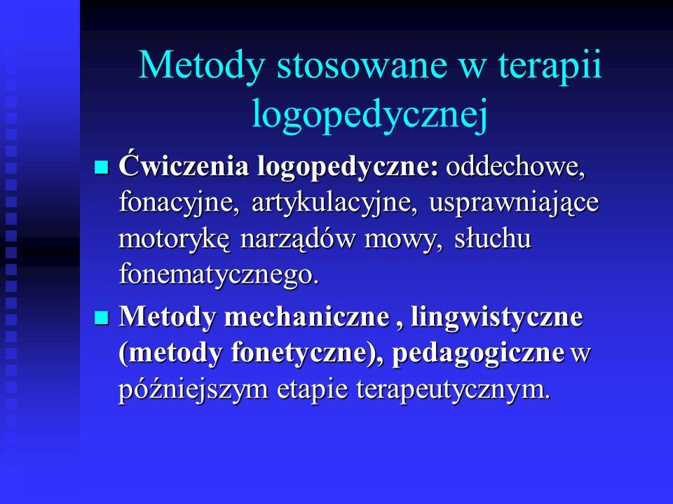 Metody stosowane w terapii logopedycznej
