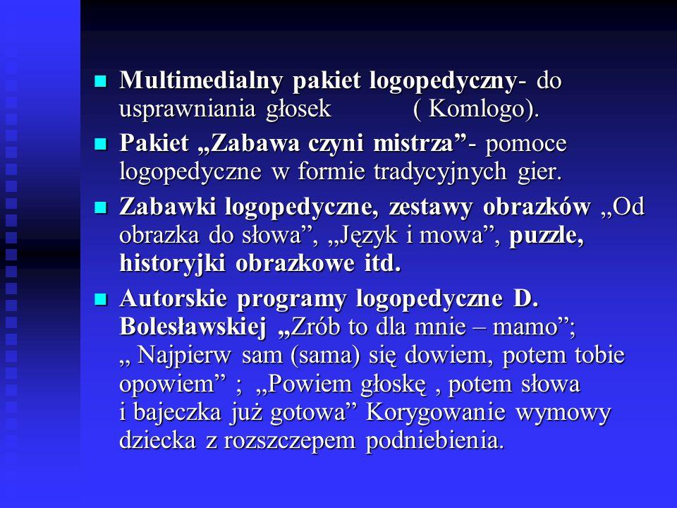 Multimedialny pakiet logopedyczny- do usprawniania głosek ( Komlogo).