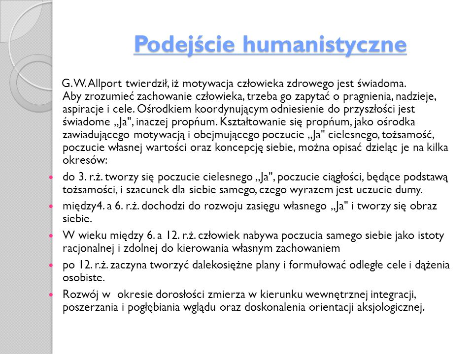 Podejście humanistyczne