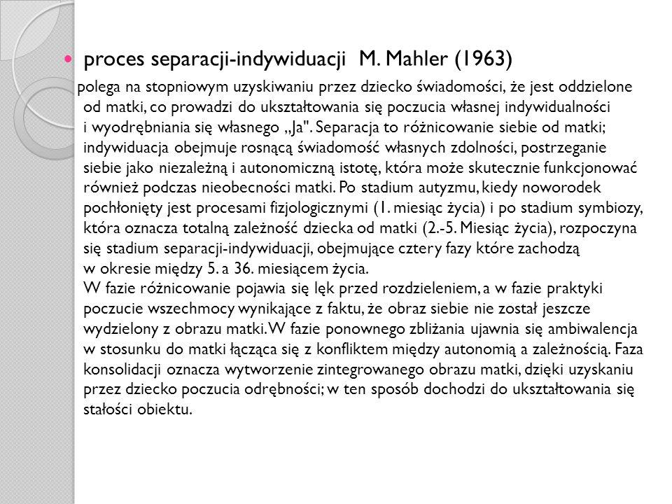 proces separacji-indywiduacji M. Mahler (1963)