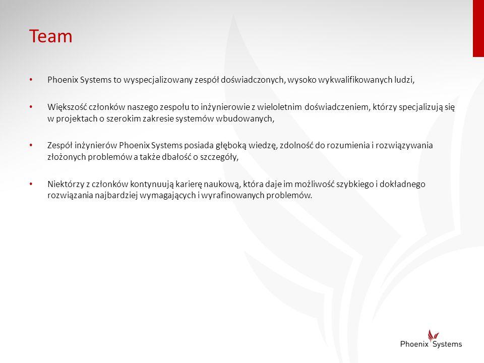 Team Phoenix Systems to wyspecjalizowany zespół doświadczonych, wysoko wykwalifikowanych ludzi,