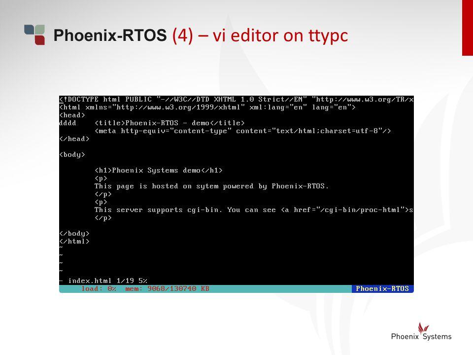 (4) – vi editor on ttypc