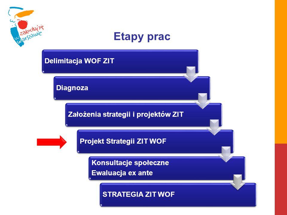 Etapy prac Delimitacja WOF ZIT Diagnoza