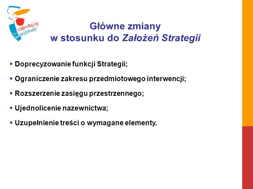 w stosunku do Założeń Strategii