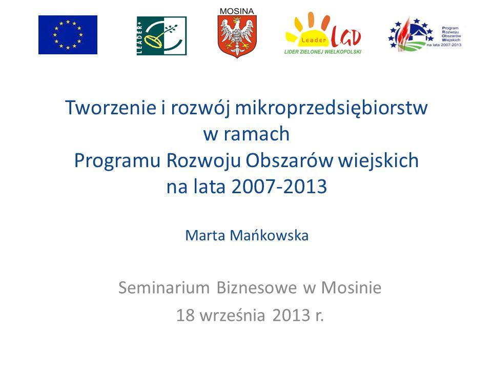 Seminarium Biznesowe w Mosinie 18 września 2013 r.