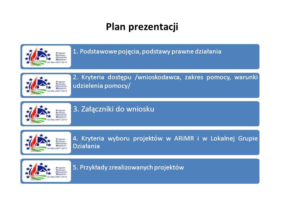 Plan prezentacji 1. Podstawowe pojęcia, podstawy prawne działania. 2. Kryteria dostępu /wnioskodawca, zakres pomocy, warunki udzielenia pomocy/