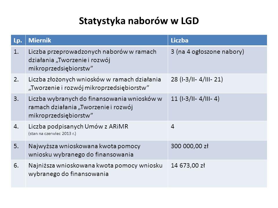 Statystyka naborów w LGD