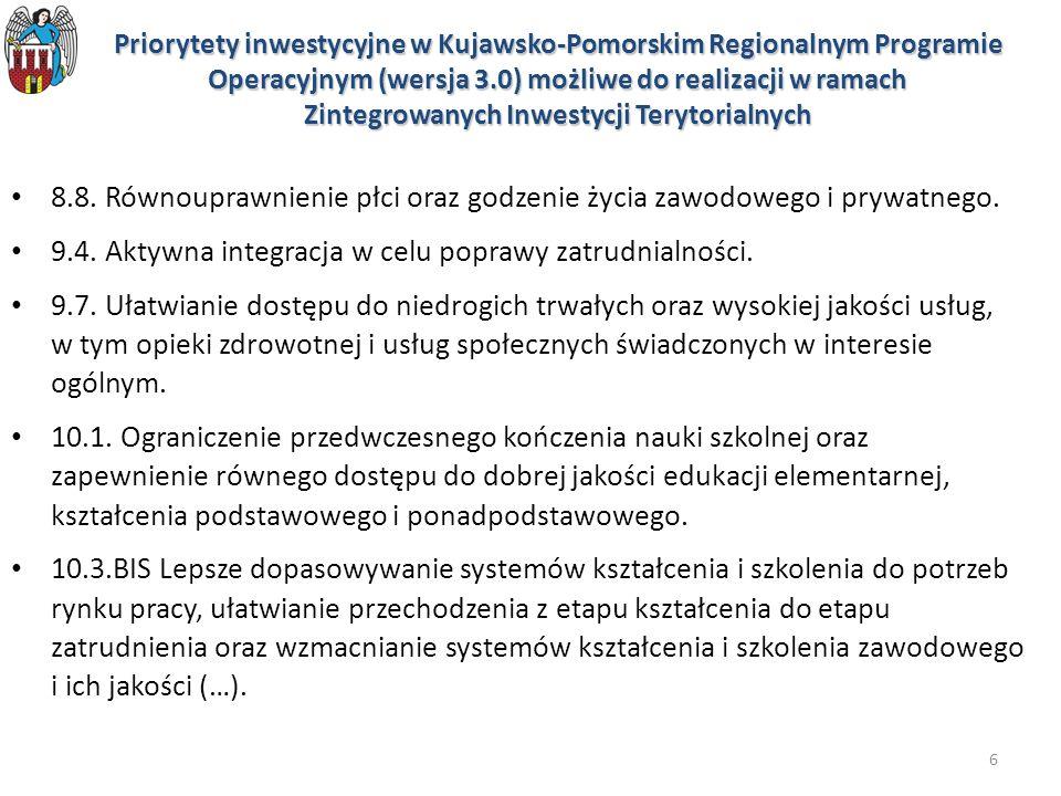 9.4. Aktywna integracja w celu poprawy zatrudnialności.